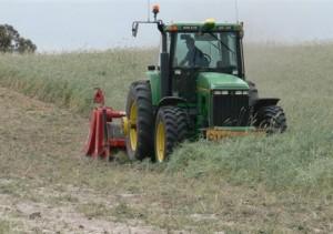 Farmax Spader used for green manuring